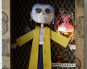 Coraline doll RETRO handmade!
