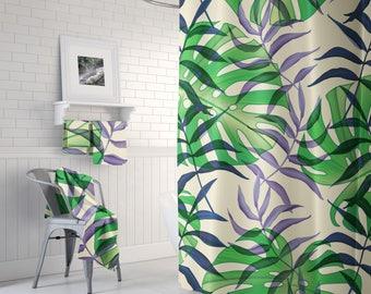 Fern Leaf Botanical Shower Curtain