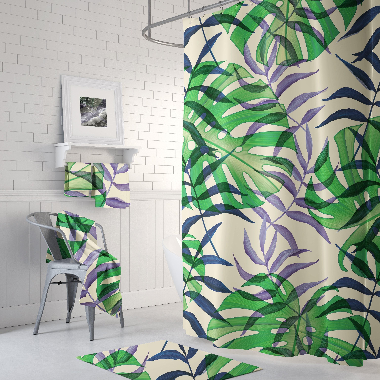 Fern Leaf Botanical Shower Curtain Plant