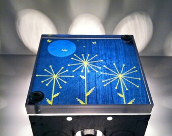 Light Box, night light, Fireflies, Full Moon, Wishing Sticks, hanging Light, Repurposed Lamp, Light Box Lights,