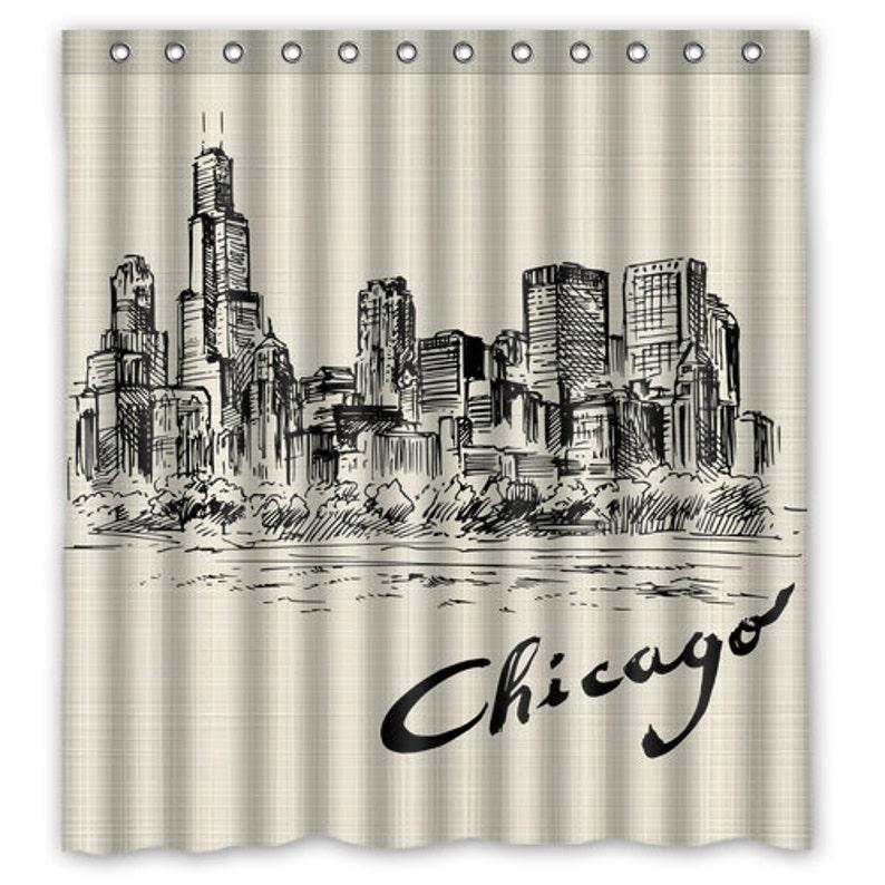 Chicago Skyline Shower Curtain Bath