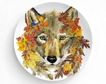 Melamine Plate ...  sc 1 st  Etsy & Fall dinner plates | Etsy