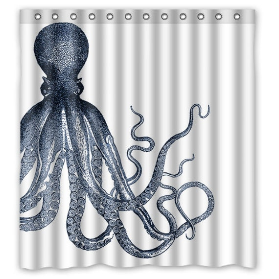Octopus Tentacles Shower Curtain Octopus Ocean Octopus