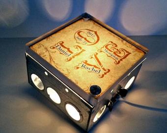 LOVE Letters Personalized Wedding Art Repurposed Vintage Dictionary Light Box Night Light