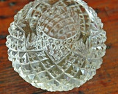 Rare Antique STRAWBERRY n FAN LIBBEY Inspired Paperweight Candle Holder Brilliant Period Cut Glass Exc Condition