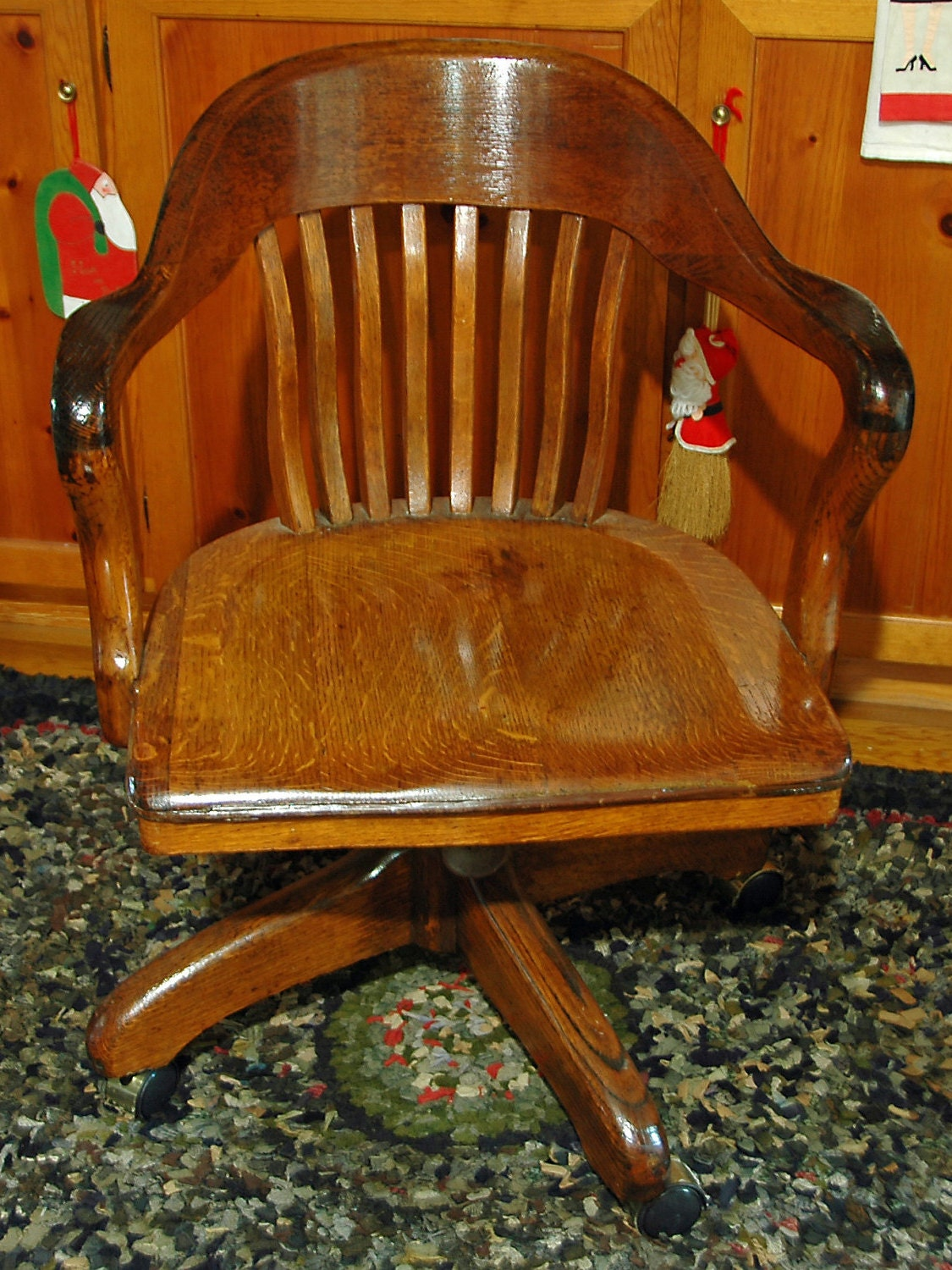 Wondrous Antique Vintage Oak Desk Armchair Ca 1930S Solid Gmtry Best Dining Table And Chair Ideas Images Gmtryco