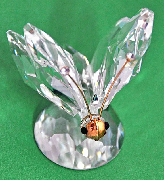 Reduced: Vintage 1982 SWAROVSKI BUTTERFLY #2 SC Crystal Tips No Box Excellent Condition