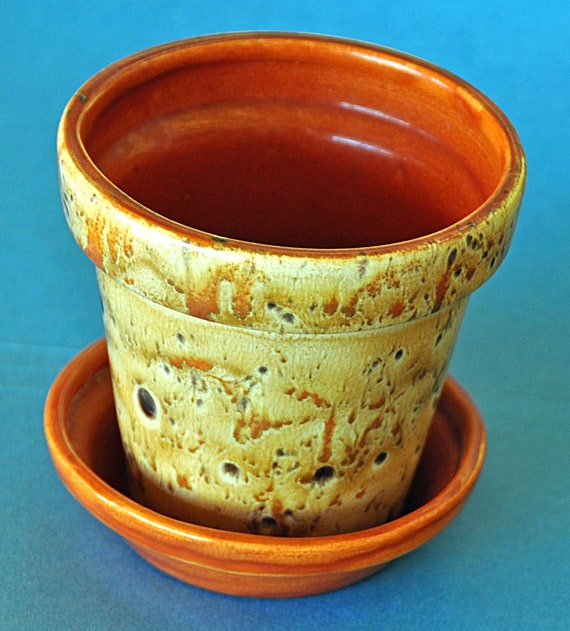 Vintage Decorative. Ceramic PLANTER FLOWER POT, Garden Planter, Indoor Herb Ceramic Planter Patio Flowerpot,