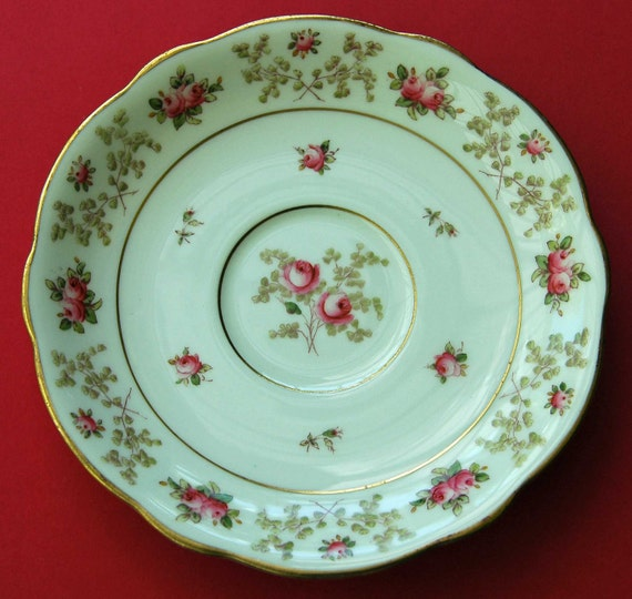 "Antique COALPORT Cream SOUP STAND (Saucer) Bone China Scarce Item in Pattern Number 5959 Stand Only, 6 13/16"" diameter, Exc Condition -"