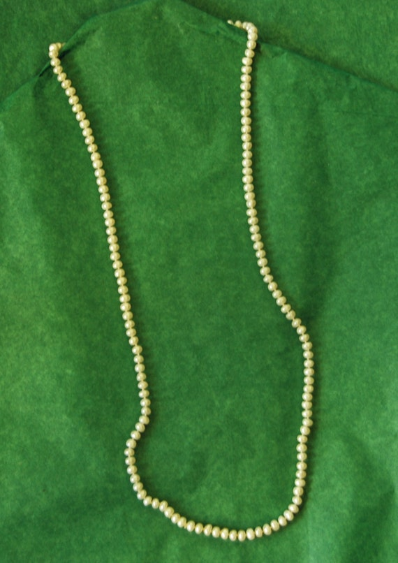 "Collectors Item BAROQUE FRESHWATER PEARLS, Opera Length 35"", 5mm - Sizes Vary, Exc Condition - Price is for one (2 Available)"