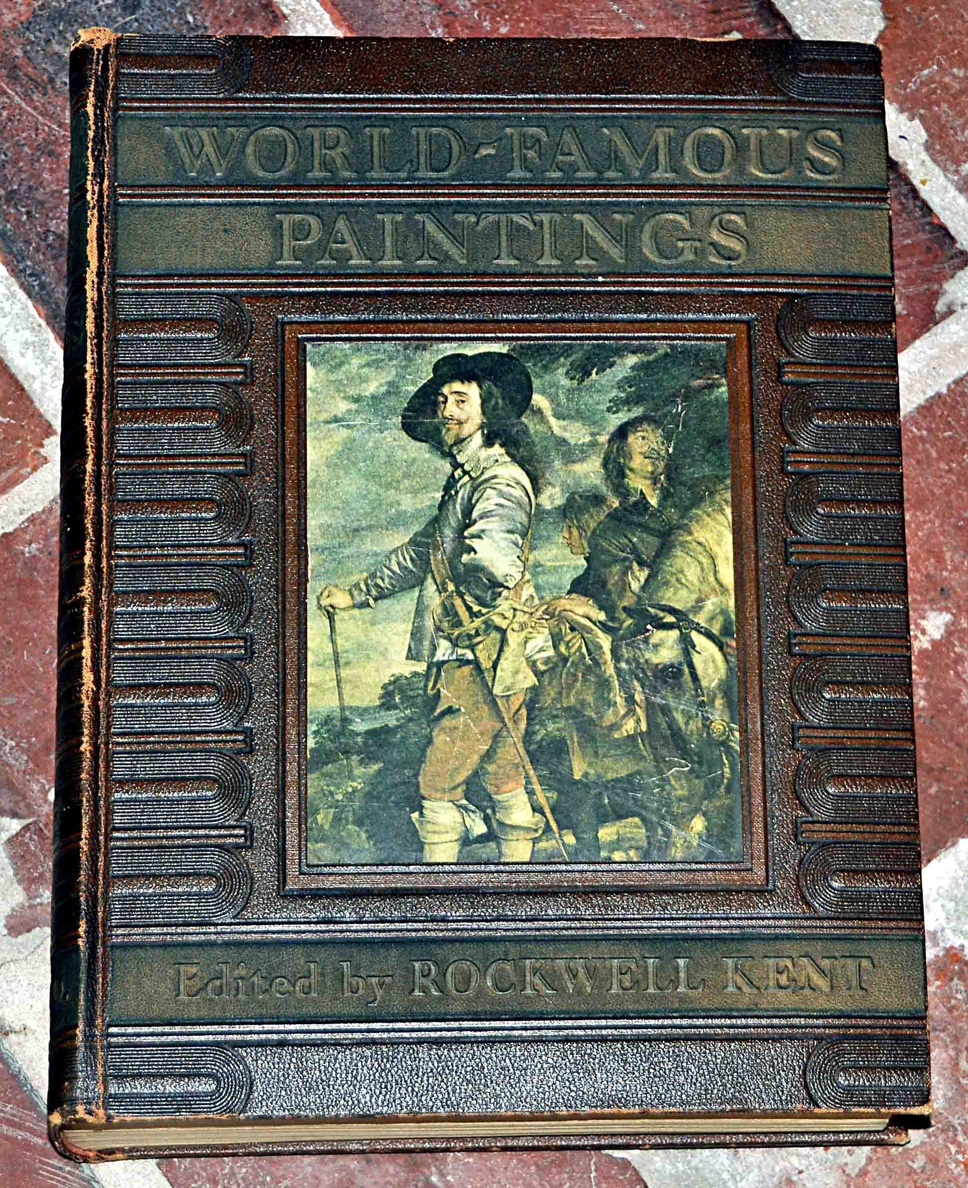 Vintage 1939 'WORLD-FAMOUS PAINTINGS' Book Rockwell