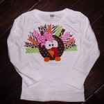 Boutique Ribbon Turkey Shirt Sizes Newborn to 14 youth