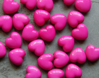 Mixed Colors GEMSTONE PUFFY HEART Beads how0680 12mm Howlite Heart Beads
