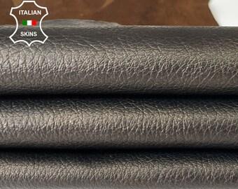 METALLIC ROUGH ANTIQUED bronze thick soft Italian goatskin goat leather skin skins hide hides 5sqf 1.1mm #A8040