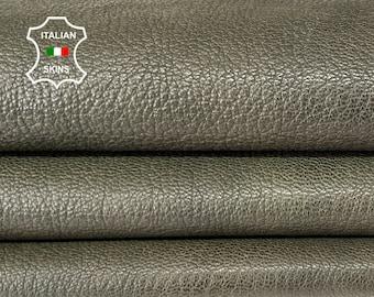 GREEN ARMY ROUGH rustic antiqued  vegetable tan Italian goatskin goat leather hide hides skin skins 7sqf 1.2mm #A8188