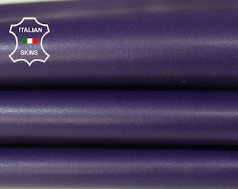 EGGPLANT PURPLE smooth Italian genuine Lambskin Lamb Sheep wholesale leather skins material for sewing high quality 0.5mm to 1.2mm