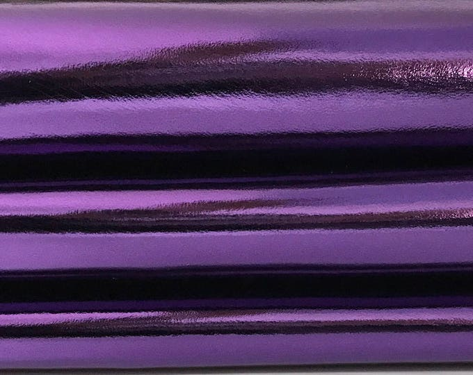 METALLIC PURPLE Italian genuine Lambskin Lamb Sheep Sheepskin leather skin skins hide hides 0.7mm 6-7sqf