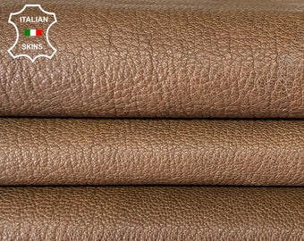 NATURL BROWN GRAINY rough vegetable tan thick soft Italian goatskin goat leather skin skins hide hides 5+sqf 1.5mm #A8101