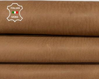 NATURAL BROWN NAKED vegetable tan Italian goatskin goat leather skin skins hide hides 6sqf 0.8mm #A8432