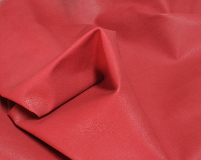Italian Gaotskin Goat leather skin hide skins hides UNFINISHED RED 6sqf #A2596