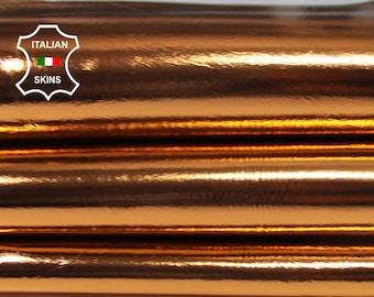 METALLIC BRIGHT COPPER Italian lambskin lamb sheep leather skin skins hide hides 5-6sqf 0.7mm