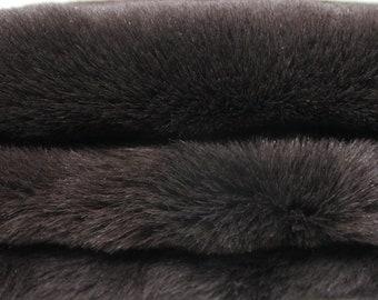 BROWN sheepskin hair on shearling fur sheep Italian leather skin skins hide hides 3sqf #4564