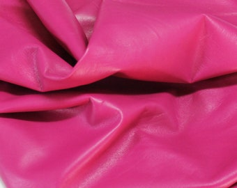 Italian Lamb Sheep lambskin leather 12 skins hides ROSE HOT PINK 80-90sqf