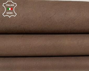 NATURAL BROWN RUSTIC antiqued vegetable tan Italian goatskin goat leather skin skins hide hides 7sqf 1.0mm #A8433
