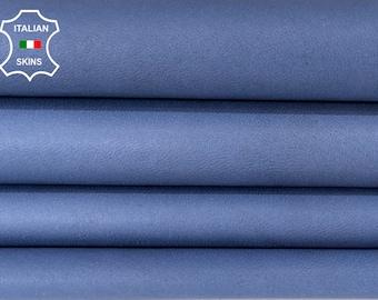 NATURAL DENIM BLUE soft Italian lambskin lamb sheep leather skin skins hide hides 4+sqf 0.5mm #A8321