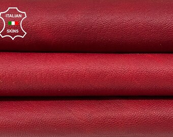 RED ANTIQUED RUSTIC vegetable tan thick Italian goatskin goat leather skin skins hide hides 6+sqf 1.2mm #A8392