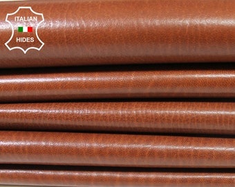 COGNAC BROWN natural grainy vegetable tan Italian genuine Lambskin Lamb Sheep leather wholesale skins hides 0.5mm to 1.2mm