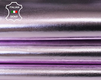 METALLIC PINK CRINKLED crinkle light pink strong Italian Goatskin Goat leather skin hide skins hides 5-6sqf 0.8mm #A6654