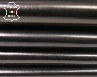 BLACK BRONZE HUE shiny Smooth Italian Lambskin Lamb Sheep leather material for sewing skin hide skins hides 5sqf 0.9mm #MARBKB3