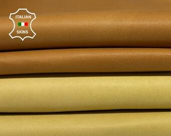 PACK CAMEL & BEIGE  soft Italian lambskin lamb sheep leather pack 2 skins total 8sqf 0.6mm #A8366