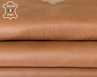 BROWN VEGETABLE TAN soft Italian lambskin sheep leather skin skins hide hides 6sqf 0.7mm #A8094