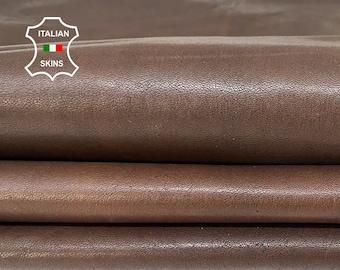 DARK BROWN ANTIQUED rustic vegetable tan Italian goatskin goat leather skin skins hide hides 9+sqf 1.1mm #A8437