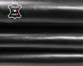 Reserved BLACK ANTIQUED Italian Goatskin Goat leather material for sewing 10 skins hides total 50sqf 0.6mm #A4498