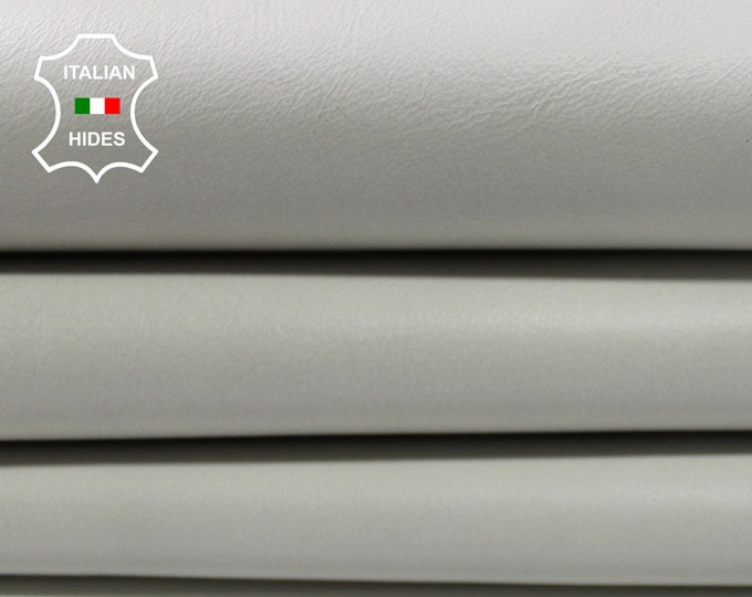 ICE WHITE offwhite Italian Lambskin Lamb Sheep leather material for sewing hide skin skins hides 0.9mm #A4509