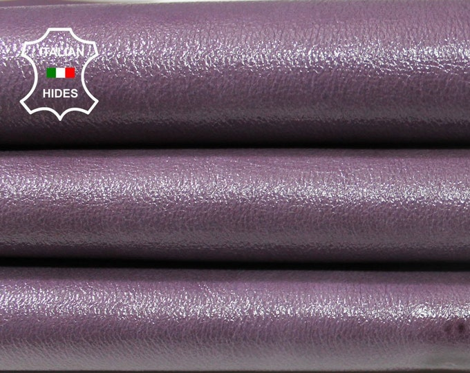 PATENT MAUVE Textured rough Italian Lambskin Lamb Sheep leather material for sewing skin hide skins hides 5sqf 0.7mm #A4605