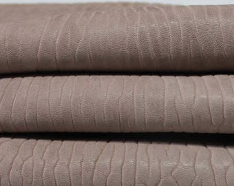 DOUBLE SIDED NUDE Antiqued bubbles Grainy thick reversible genuine Italian Lambskin Lamb Sheep leather skin skins hides 5sqf 2.0mm #A3533