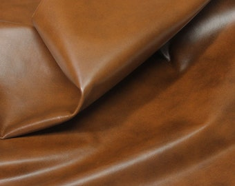 Italian lambskin Lamb Sheep leather 12 skins hides BROWN DISTRESSED 80-90sqf