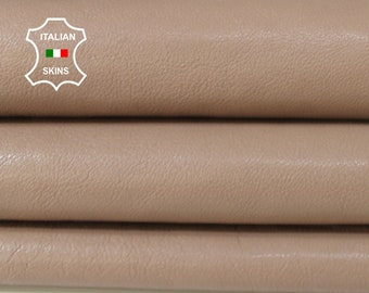 BEIGE NUDE rough thick Italian Calfskin Calf cow cowhide upholstery leather skin hide skins hides 6sqf 1.3mm #A6751