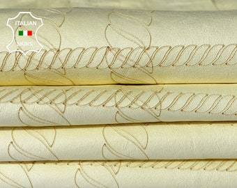 NATURAL LIGHT YELLOW laser engrave soft Italian lambskin sheep leather skin skins hide hides 4sqf 0.5mm #A8079