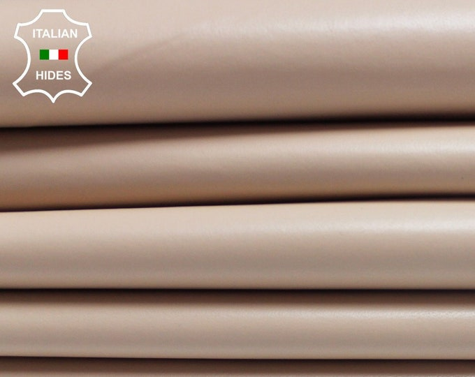 NUDE pinkish beige Italian smooth genuine Lambskin Lamb Sheep leather skin hide hides skins 5-9sqf 0.7mm #Brn-B3