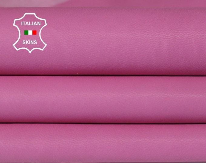 WASHED PINK vegetable tan Italian genuine Goatskin Goat wholesale leather skins material for sewing high quality 0.5mm to 1.2mm