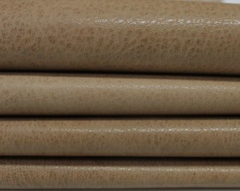 WASHED PEANUT Butter BROWN Rustic Vegetable Italian genuine Goatskin Goat leather skins hides 0.5mm to 1.2mm