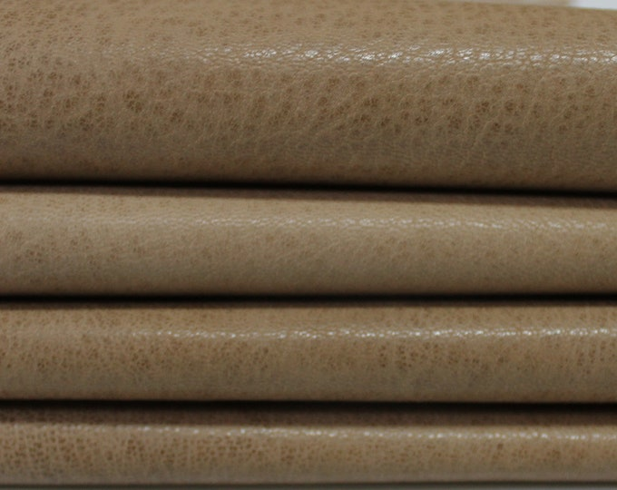 WASHED PEANUT Butter BROWN Rustic Vegetable Italian genuine Goatskin Goat leather skins hides 0.5mm to 1.5mm