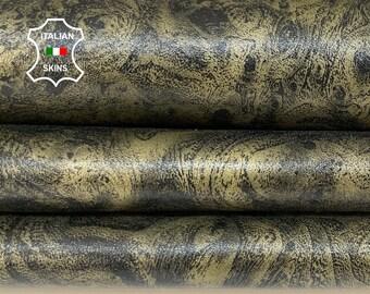 BRONZE ANTIQUED BRUSHED distressed soft Italian Lambskin Lamb Sheep leather skin skins hide hides 5sqf 1.0mm #A8510