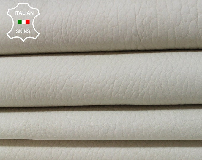 UNDYED UNFINISHED off WHITE chrome dye offwhite naked grainy Italian Lambskin Lamb Sheep leather material sewing 2 skins total 10sqf 1.2mm