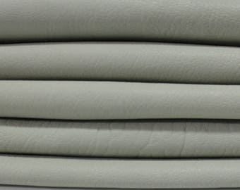 GREENISH GRAY Italian genuine washed thick lambskin lamb sheep leather skin skins hide hides vegetable tan tanned 5sqf #A2926